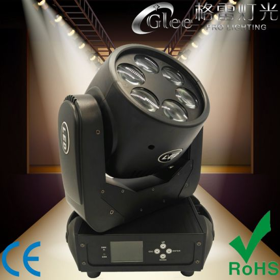 6X25W Super Beam Wash DJ Effect LED Moving Head Light