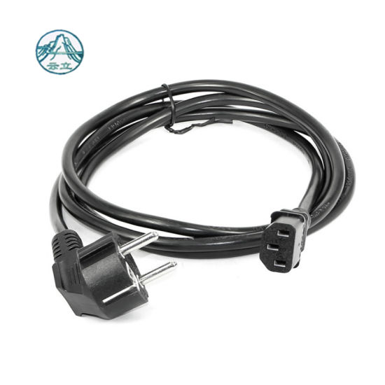 VDE Approved Rubber 3pins Electric Plug 3*1.0mm2 Power Cord with C13 Connector