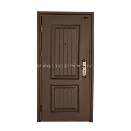 Modern Brown Single Steel Security Door Zf -Ds-016