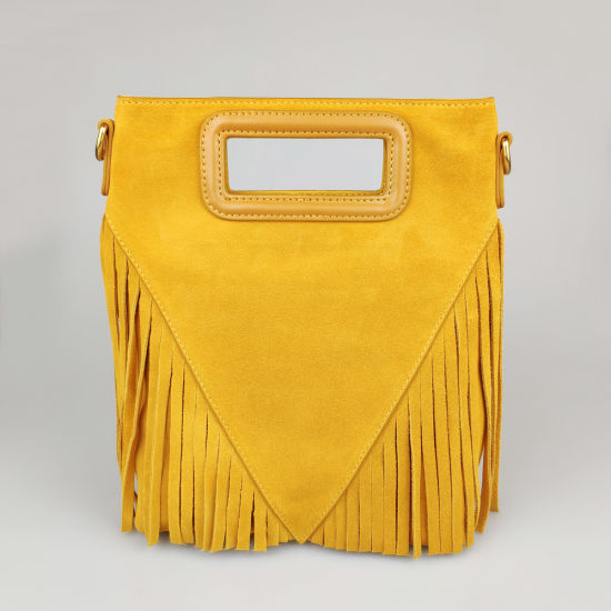 Lady Candy Suede Hand Bag Cowhide Suede Crossbody Bag