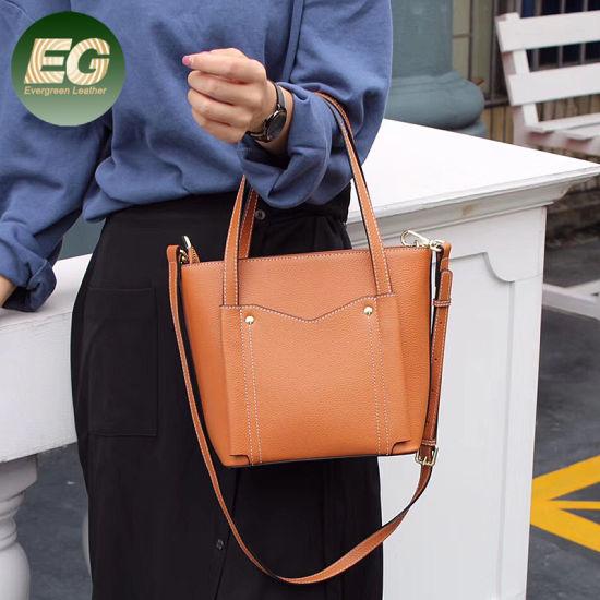 2019 Leather Handbags Vintage Versatile Tote Bag for Ladies Emg5523