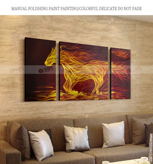 China The Fire Horse Metal Wall Artwork Decor Modern Decorative