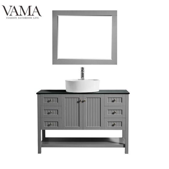 Complete Bathroom Vanity Sets.Vama 48 Inch Foshan Factory Wholesale Green Color Complete Bathroom Vanity Sets 756048