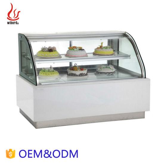 Junjian Cooling Glass Cabinet Marble Cake Display Showcase Refrigerator