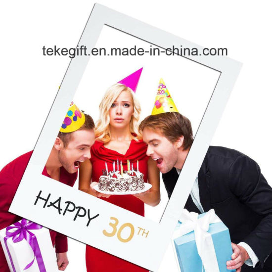 Promotional Gifts 21th 30th 50th Anniversary Birthday Party Selfie Photo  Booth Frame Props