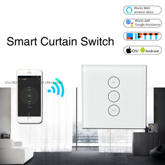 WiFi Smart Curtain Switch Smart Life Tuya for Electric Motorized Curtain Blind Roller Shutter Works with Alexa and Google Home pictures & photos