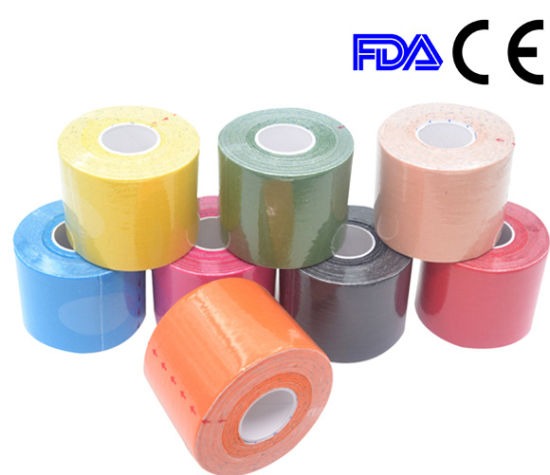 FDA Approved Surgical Waterproof Therapy Kinesiology Sport Tape pictures & photos