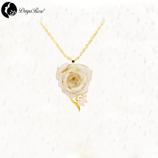 Amy Granule White Rose Necklace (fresh rose) pictures & photos