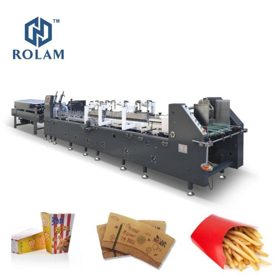 Two Belts Conveyor Folding Gluing Machine for a Carton Gluing Machine (AS-1100B)