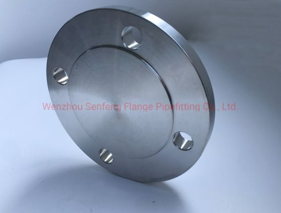 F61/F53/F55/2205/2507 /2520/317L /304/316 ANSI B16.5 Stainless Steel Forged FF Blind Flange