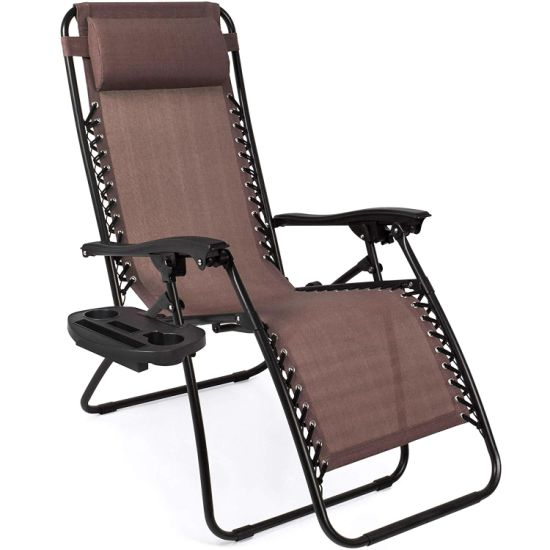 Fmab Zero Gravity Folding Lounge Beach Chairs W/Canopy Magazine Cup Holder pictures & photos
