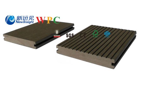 146*23mm Wood Plastic Composite Decking with CE, Fsc, SGS, Certificate