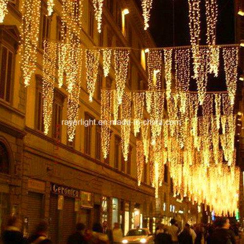 Outside Waterproof Street Decoration LED Christmas Curtain Street Lights