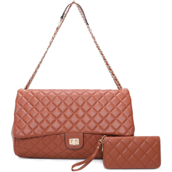 Wholesale Lady Fashion Replica Classic Quilted 2-in-1 Shoulder Handbag