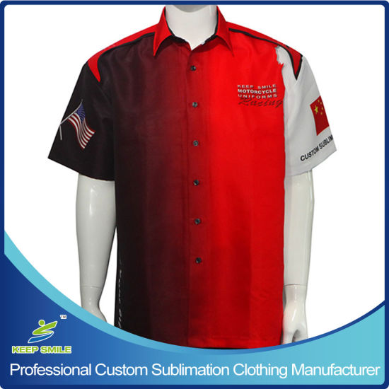 Custom Made Sublimated Motorcycle Staff Uniform Racing Shirts