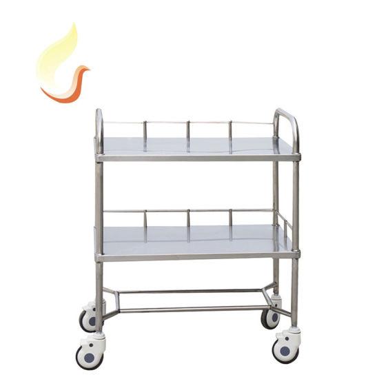 Hospital Instrument Cart Medicine Trolley Stainless Steel Cart for Nursing