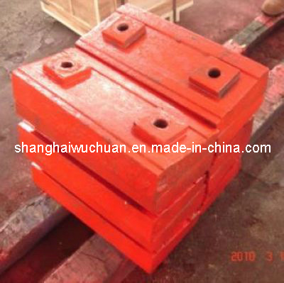 High Manganese Casting Steel Impact Plate Liner Impact Crusher Wear Spare Parts