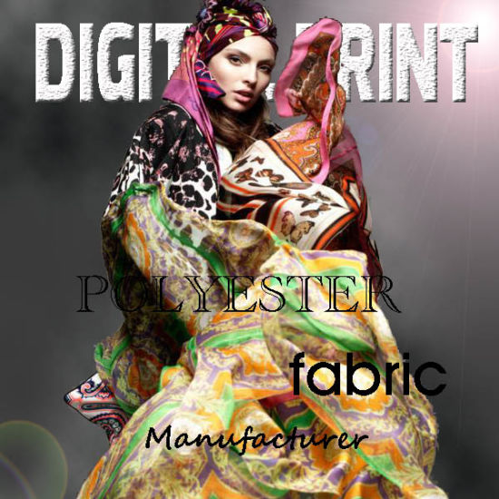 Custom Designed Poly Satin Digital Printed