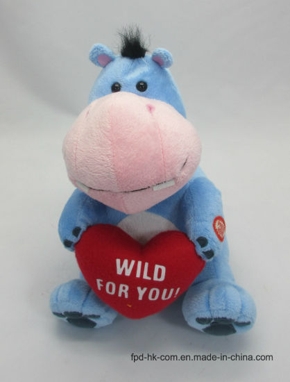 Christmas Halloween Animation Plush Toy Valentine Hippo pictures & photos
