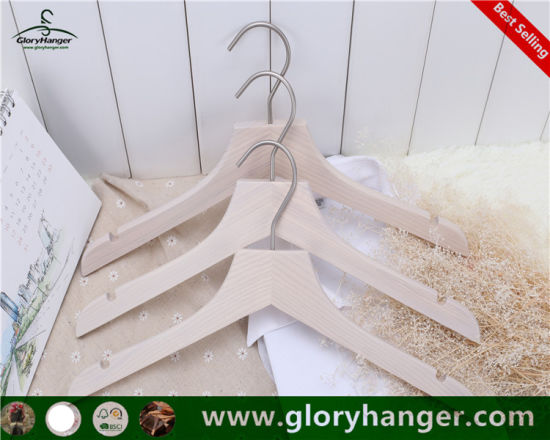 2018 Fashion White Wooden Clothes Hanger for Suit (GLWC301) pictures & photos