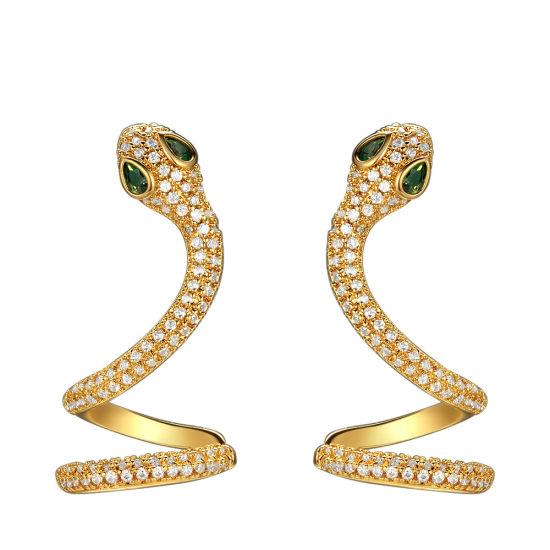 Women's Party Charm Snake Animal Cubic Zirconia CZ Cartilage Pierced Dangle Earrings
