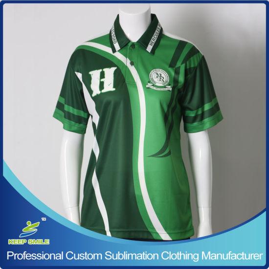 Custom Made Sublimation Polo Tee Shirt for School Uniforms