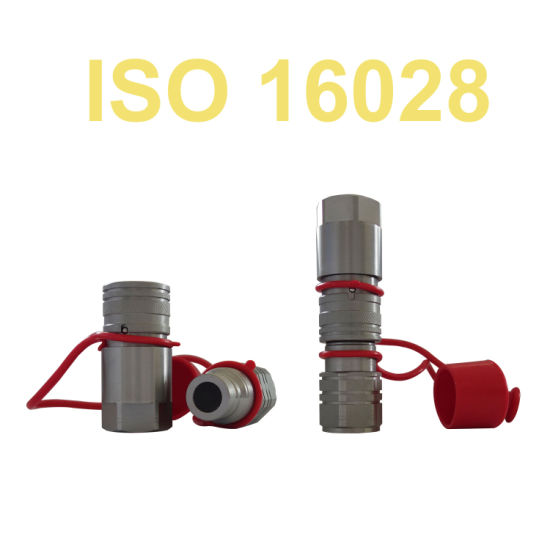 ISO 16028 Flat Face Non-Spill Quick Release Coupling with Safety Lock Sleeve