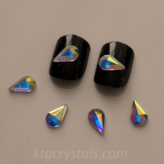 China Nail Gemstones Teardrop Crystal Stones Gems Flatback