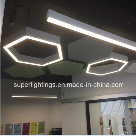 china aluminum profile led light fixture for suspended recessed
