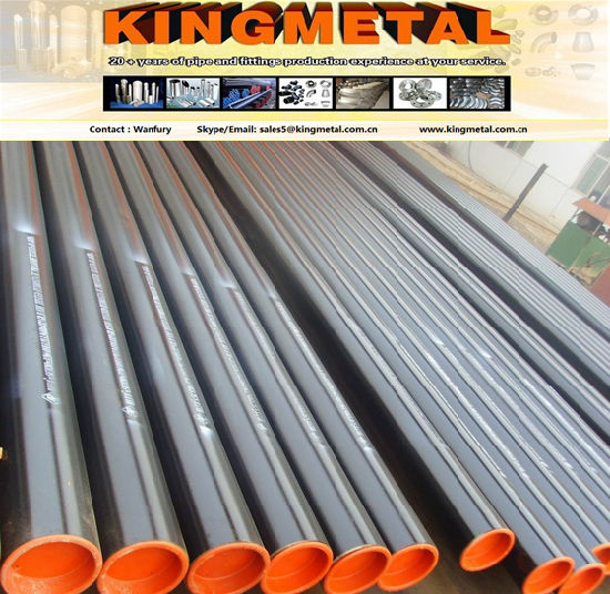 "ASTM A334 8"" Sch40 Grade 7 Seamless Carbon Steel Pipes, pictures & photos"