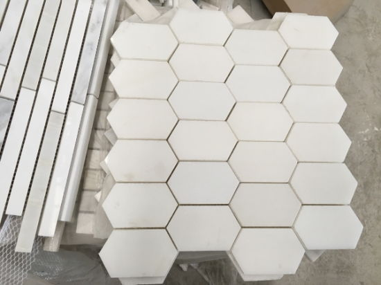 Polished/Honed/Natural Marble/Carrara White Marble/ Staturary White Marble for Mosaic pictures & photos