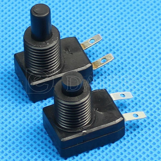 Plastic 1A 250VDC On Off 2pin Push Button Table Lamp Switch
