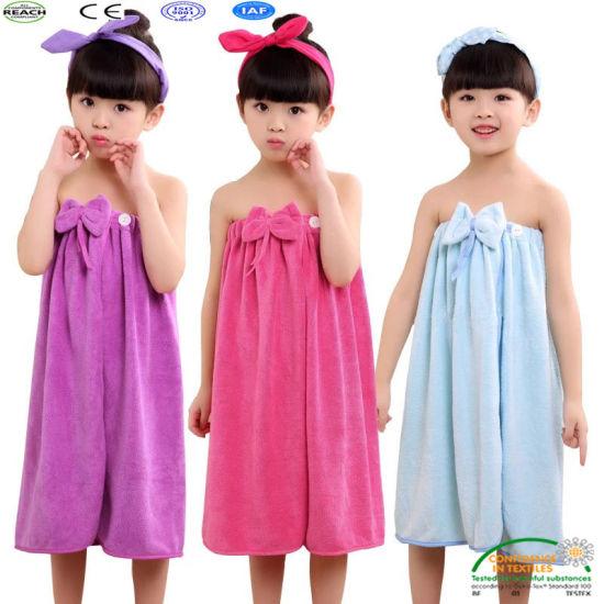 3623e3660 China Children Soft Hooded Bathrobe Bath Towel Shower Set Bathroom ...