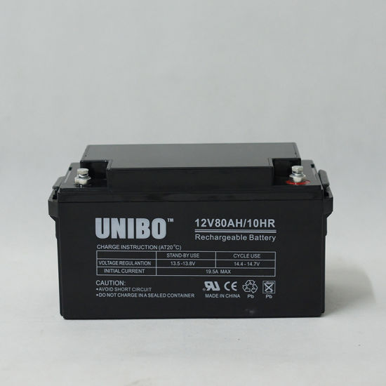 VRLA Battery Rechargeable AGM Lead Acid Battery 12V80ah pictures & photos