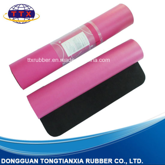 High Quality Sweat Absorbent PU Leather Rubber Yoga Mat