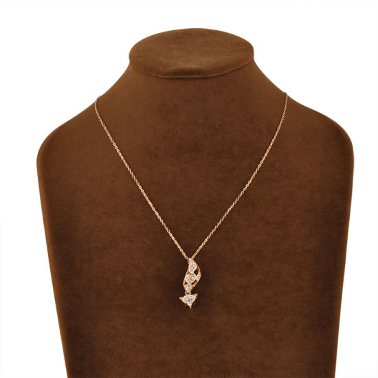 Fashion Jewelry Gold Crystal Pendant Necklace with Fox Design pictures & photos