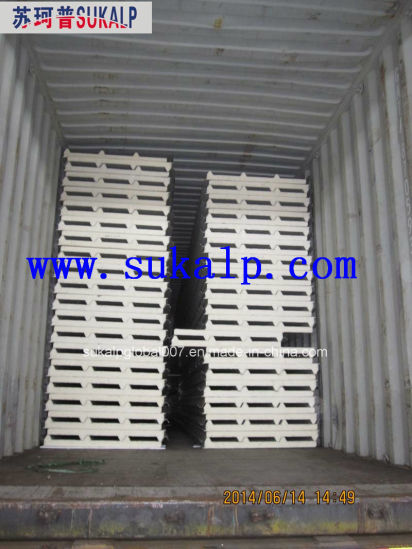 Insulated Polyurethane (PU) Sandwich Panel for Roof and Wall pictures & photos