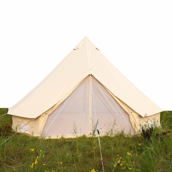 4m Waterproof Cotton Canvas Family C&ing Bell Tent with Hole for Stove Pipe Outdoor Canvas Bell Tent for Sale  sc 1 st  Beijing Unistrengh International Trade Co. Ltd. & China 4m Waterproof Cotton Canvas Family Camping Bell Tent with ...