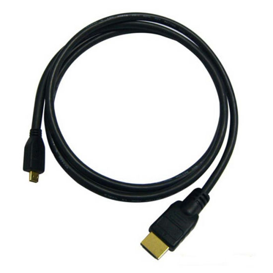 Gold-Plated Coaxial Male to Male Micro HDMI to HDMI Cable pictures & photos