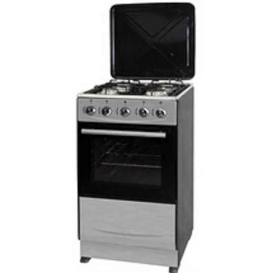 Free Standing with Enameled Pan Gas Oven (SS+metal lid)