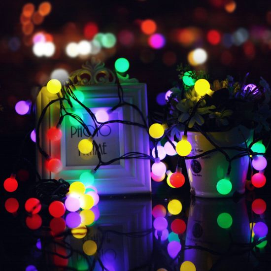 waterproof globe starry fairy string light for garden party wedding christmas light