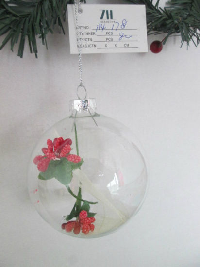 Clear Christmas Ornaments.Hot Item Clear Christmas Glass Ball Ornaments With Flower Inside