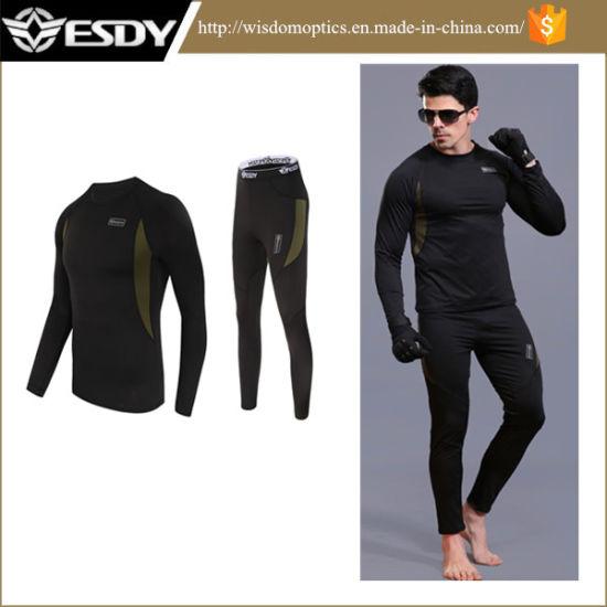 Outdoor Sports Thermal Mens Underwear Suits Esdy Same Model Underwear Black