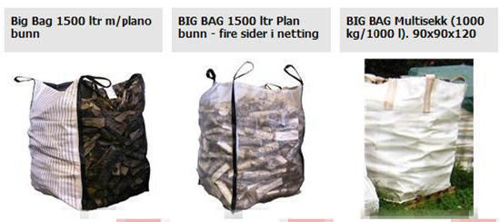 Various of FIBC Big Bags for Firewood, Wood Pellets etc