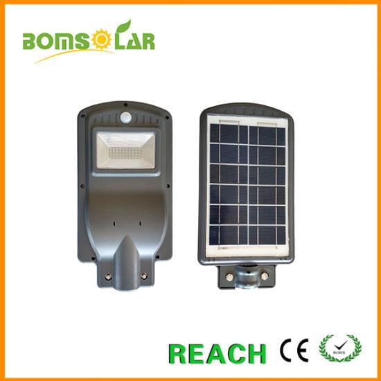 Wholesale Compact Solar Street Lamp 20W with Radar Sensor Working Time Dusk to Dawn