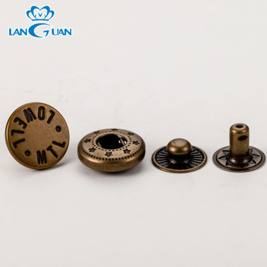 Four Parts Metal Snap Button for Jeans and Other Garment