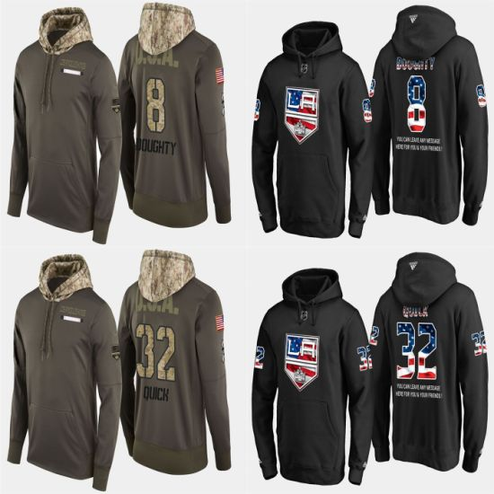 Military USA Flag Kings Drew Doughty Jonathan Quick Pullovers Hoodies