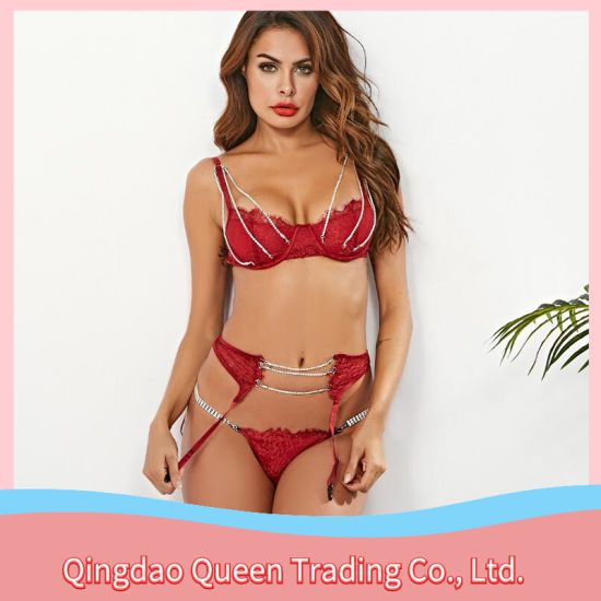 Wholesale High Quality European and American Sexy Lingerie Lace Temptation Suit