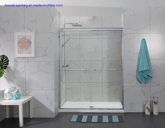 Top Slider Header Double Sliding Shower Door
