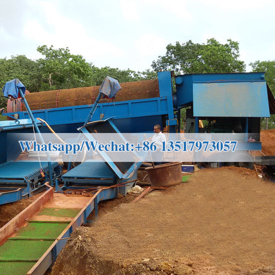 China Small Mobile Topsoil Rotary Trommel Drum Screen
